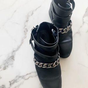 Black Retro Zara Leather Booties